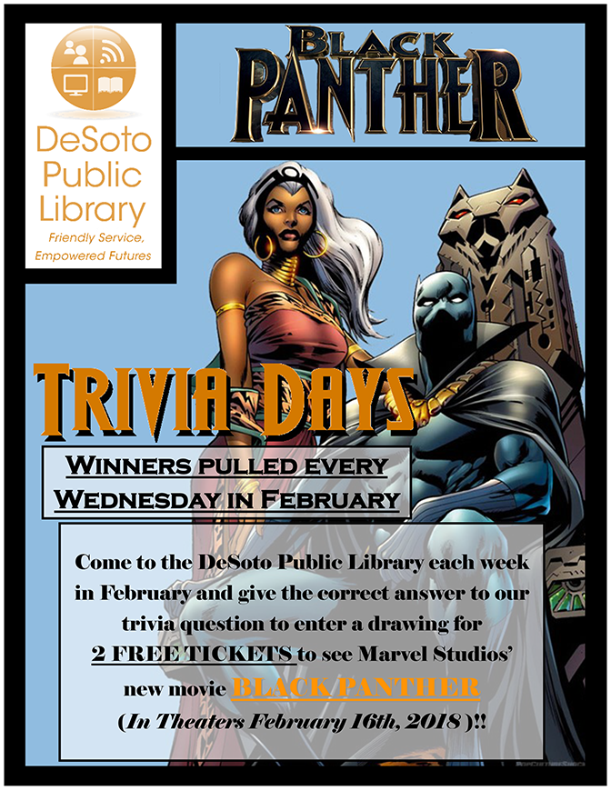Black Panther Trivia Days flyer-672w