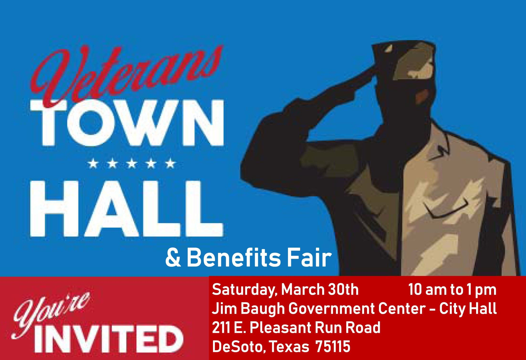 Veterans town hall meeting logo
