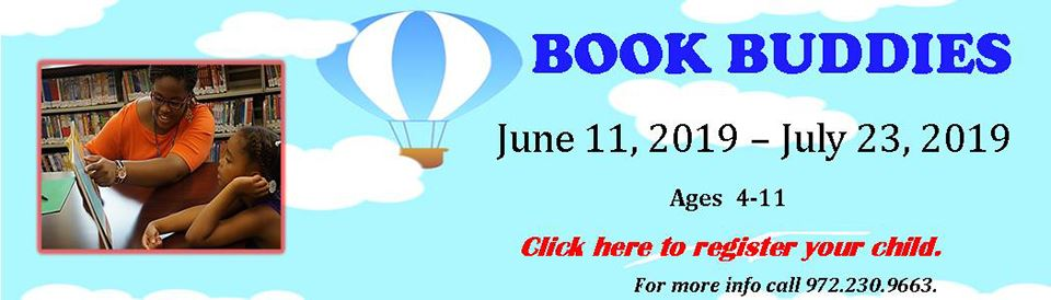 Summer Book Buddies Program--click here to sign up for the program