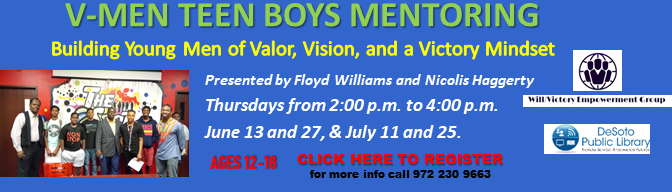 Teen Boys Mentoring Workshop 2019--Click here to register!